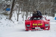 Snow camping with Ferrari F40