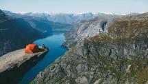 На палатка в Норвегия