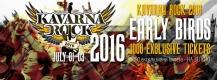 Каварна Рок 2016, 1-3 юли