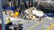 Видео на деня: Трагичен скок с кемпер върху ферибот