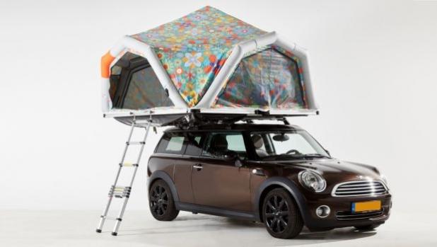 Надуваема покривна палатка за всеки автомобил