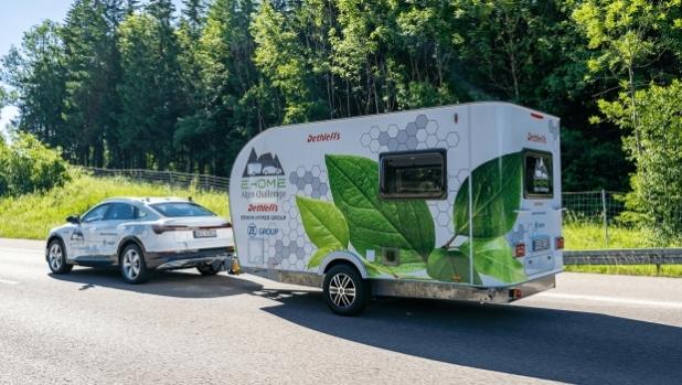 Dethleffs поставиха рекорд с електрическа каравана в Алпите